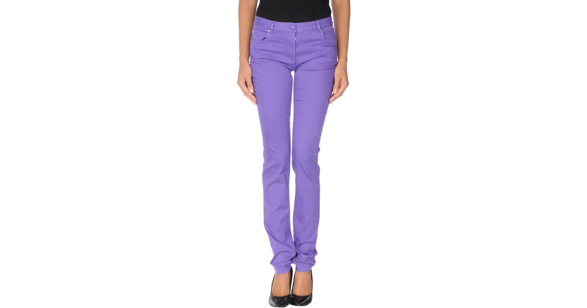 Maison margiela casual trousers in purple lyst for 10 moulmein rise la maison