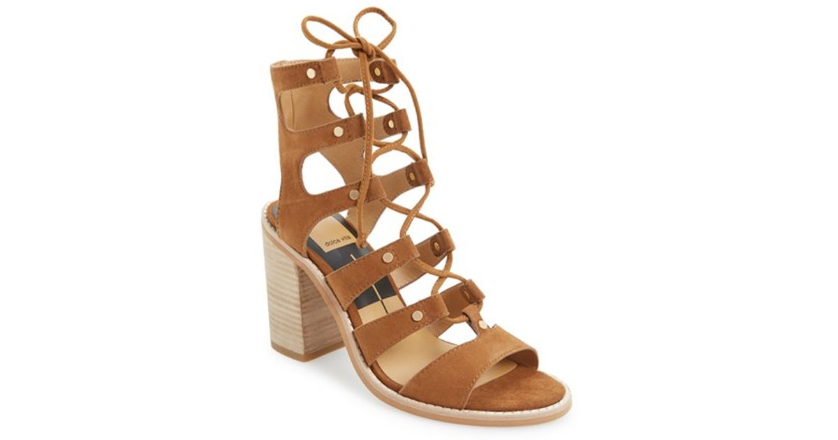 1df7fd23367 Lyst - Dolce Vita  lyndon  Lace-up Sandal in Brown