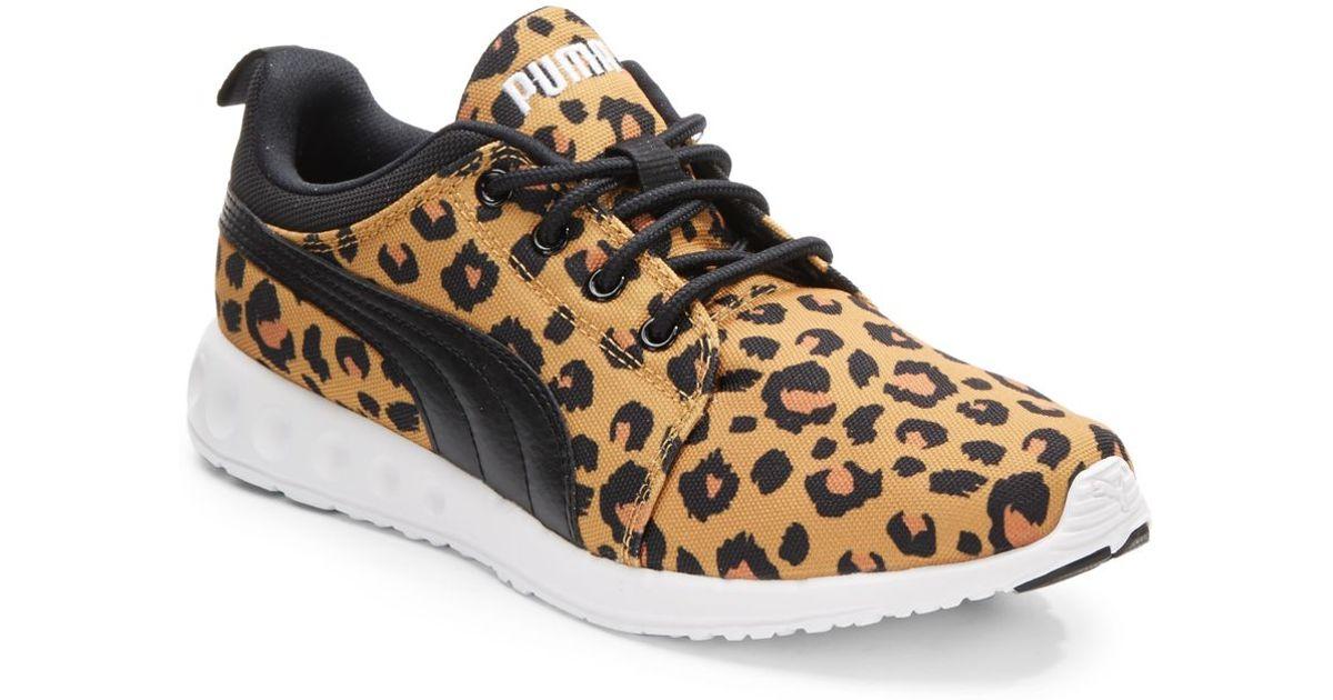 Lyst Puma Carson Runner Leopard Print Canvas Canvas Canvas Sneakers 806a32