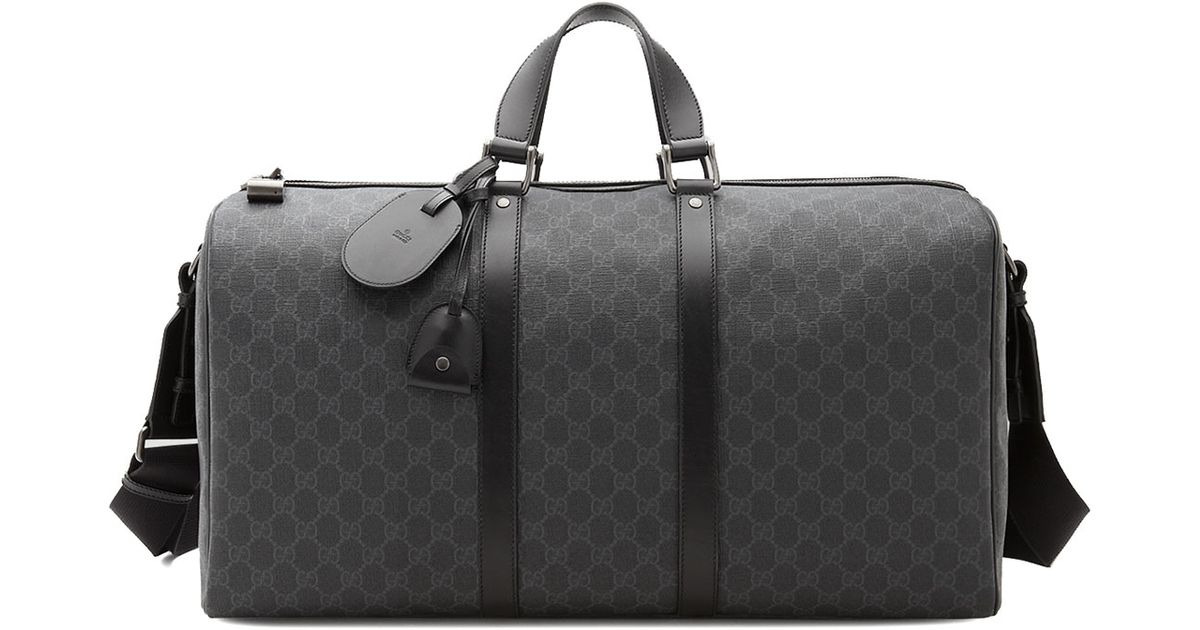 700e45c0b3e Gucci Original Gg Canvas Carry On Duffle Bag In Black For Men Lyst ...