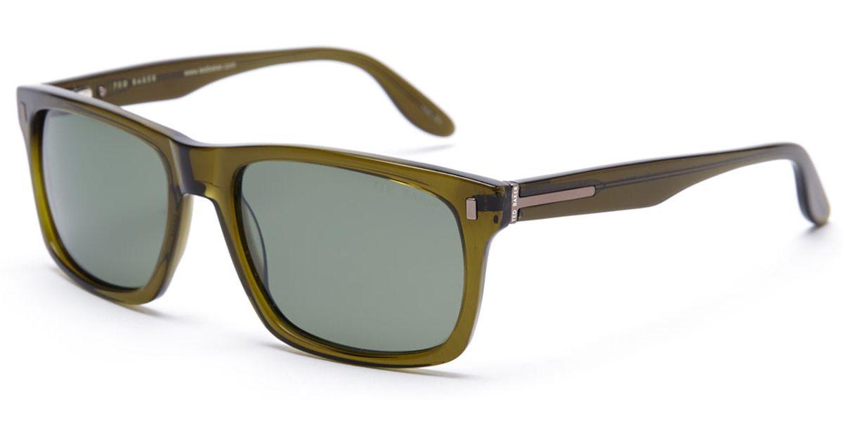 94a89531e2 Lyst - Ted Baker B602 Olive Wayfarer Polarized Sunglasses in Green for Men