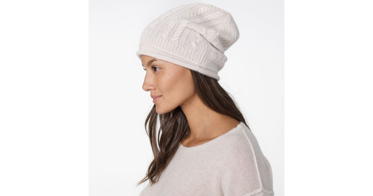 Lyst - James Perse Womens Gift Set - Cashmere Beanie And Scarf in White 06033582ac4