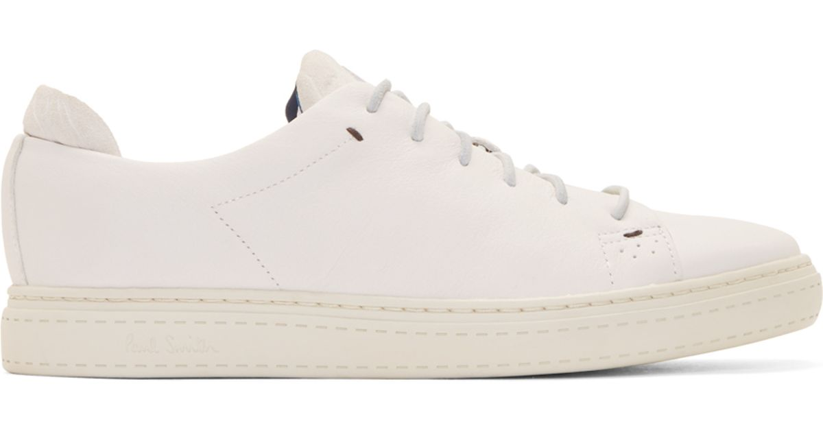 And Leather Sneakers White Lyst Paul In Suede Bowie Smith gtPwgIqfW