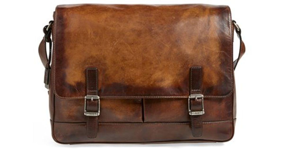 Innovative Leather Satchel Bag Shoulder Handbag Ladies Men BROWN Real Messenger Laptop   EBay