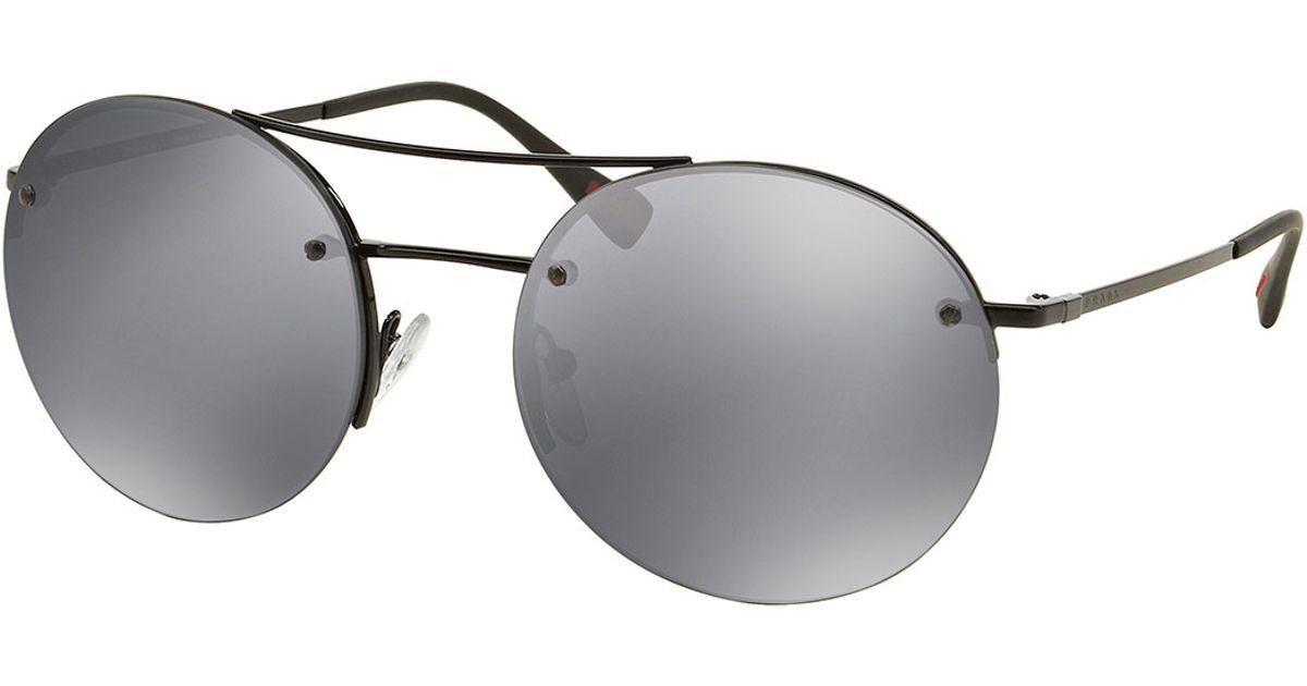 c60d72257ee3d Prada Black Round Glasses