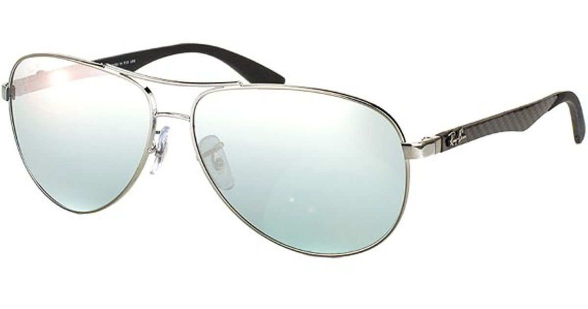 d39c00dc41563 ... netherlands lyst ray ban rb 8313 004 k6 shiny gunmetal aviator carbon  fibre sunglasses 58mm in