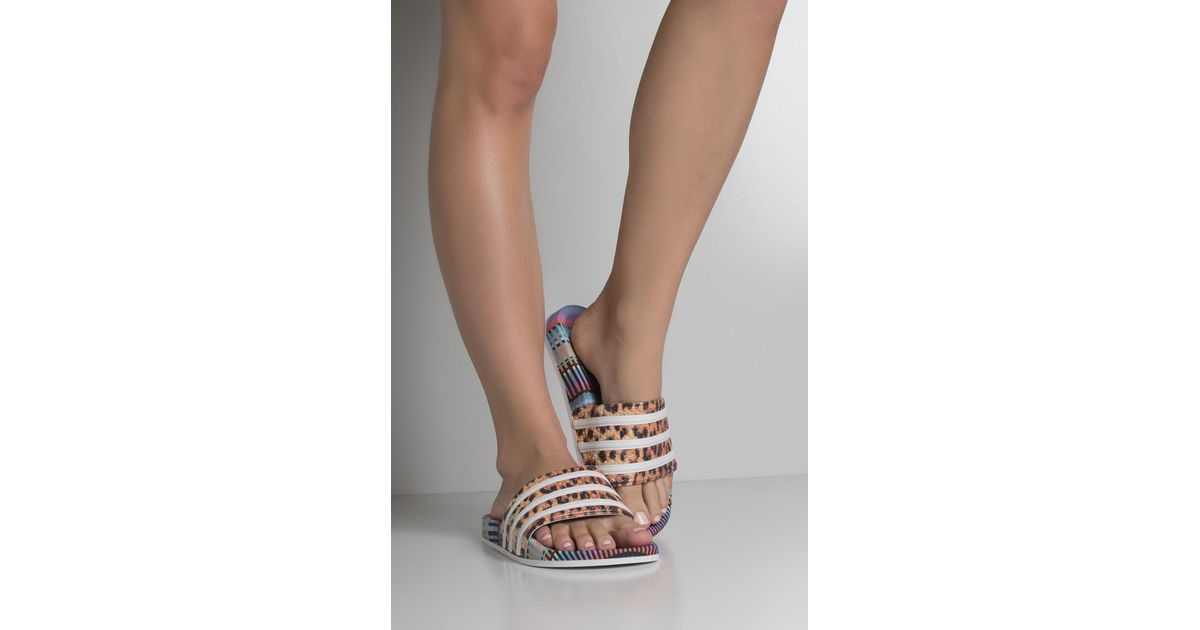 ade7a3bc7 adidas Womens Adilette Slides - Lyst