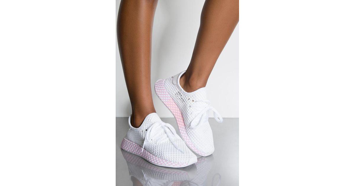 ffc512b544442 adidas Womens Deerupt W in White - Lyst