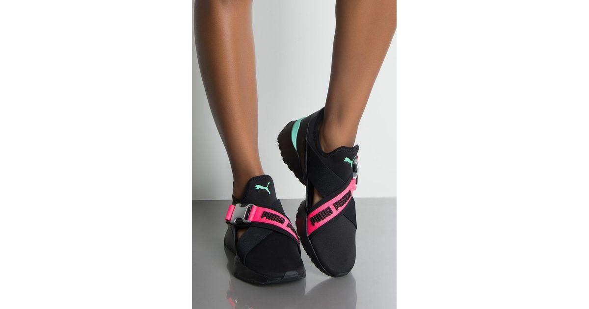 08fb69773b75 PUMA Womens Muse Eos Street 1 Sneaker in Black - Lyst