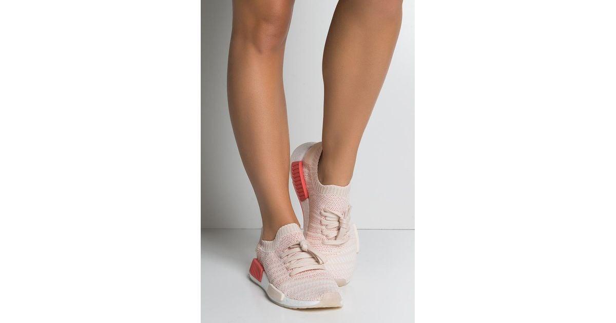 f8460b341 adidas Womens Nmd R1 Stlt Primeknit in White - Lyst