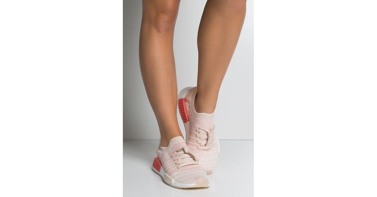 811b1d881 adidas Womens Nmd R1 Stlt Primeknit in White - Lyst