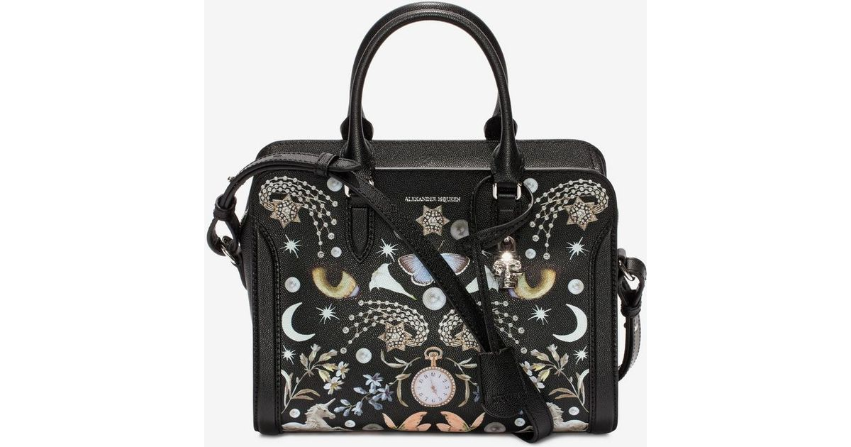 8891c153daf2b Alexander McQueen Nocturnal Print Calf Leather Small Padlock - Lyst