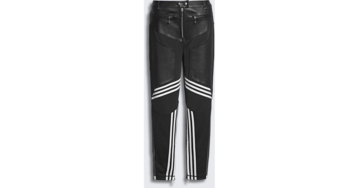 limited guantity super cheap compares to elegant shoes Alexander Wang Black Adidas Originals By Aw Leather Pants