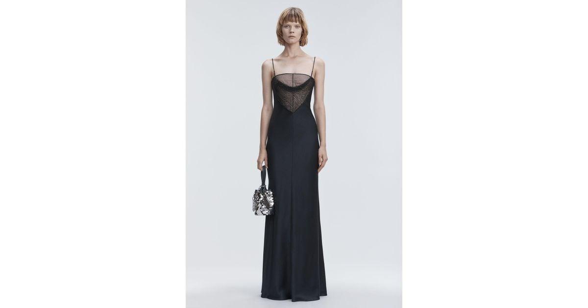 Lyst - Alexander Wang Satin Beaded Gown in Black