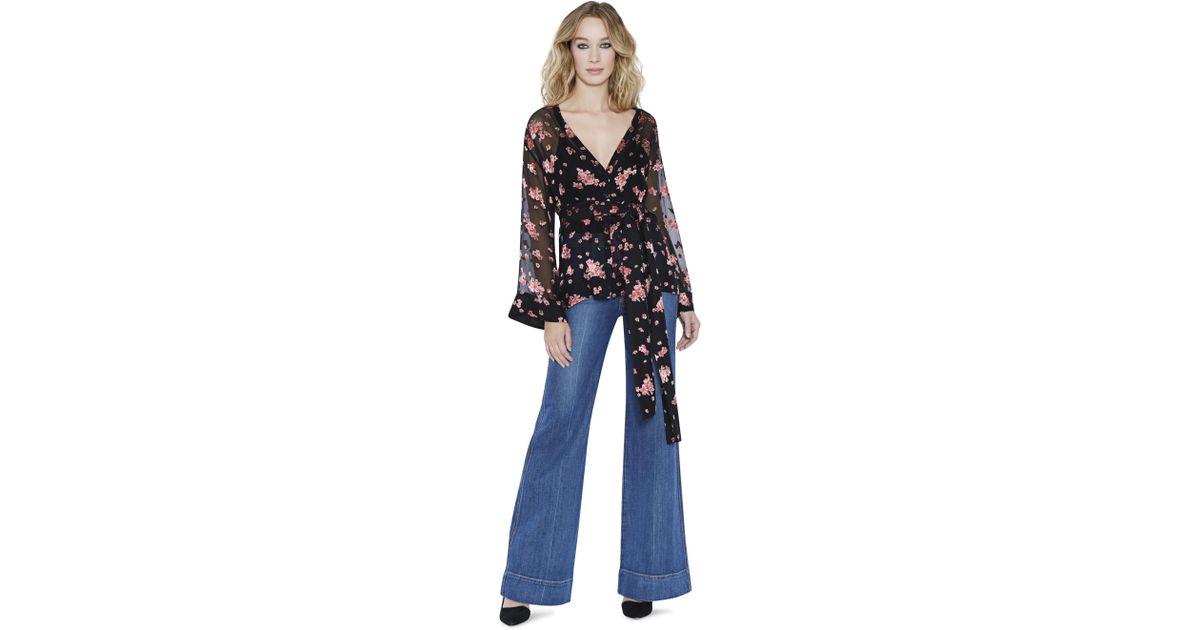2b9856bcca2f2 Alice + Olivia Rosario Tie Waist Kimono Top - Lyst