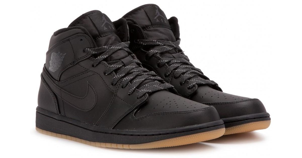 new product 8574d 0b150 Lyst - Nike Nike Air Jordan 1 Mid Winterized in Black for Men