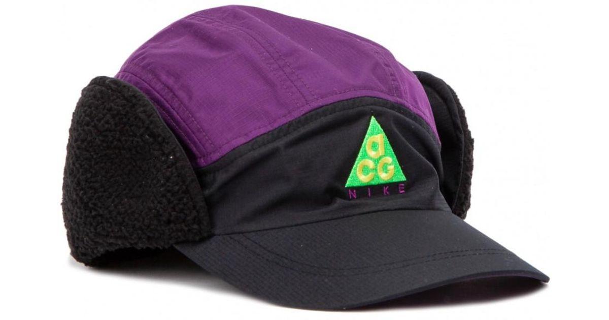 8b877860 Nike Acg Tailwind Sherpa Cap in Black for Men - Lyst