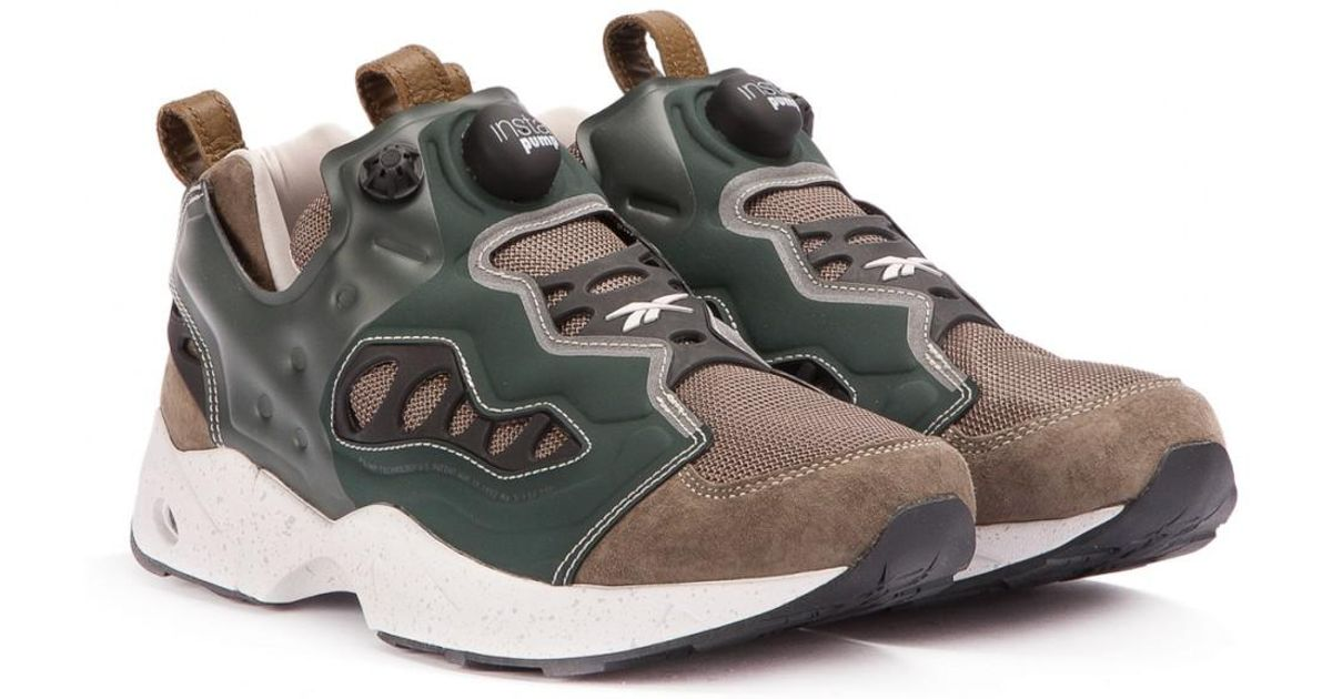 cc7ba02b6751 Lyst - Reebok X Garbstore Instapump Fury Road in Green for Men