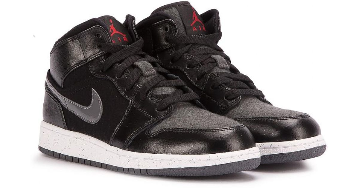 ef2c3265e828db Lyst - Nike Air Jordan 1 Mid Prem Bg in Black for Men