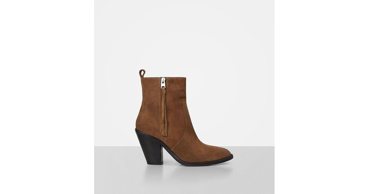 AllSaints Women's Melanie Suede Western Pointed Toe Booties Cheap Genuine Clearance Outlet Good Selling Cheap Online Cheap Latest 3o9RYJ