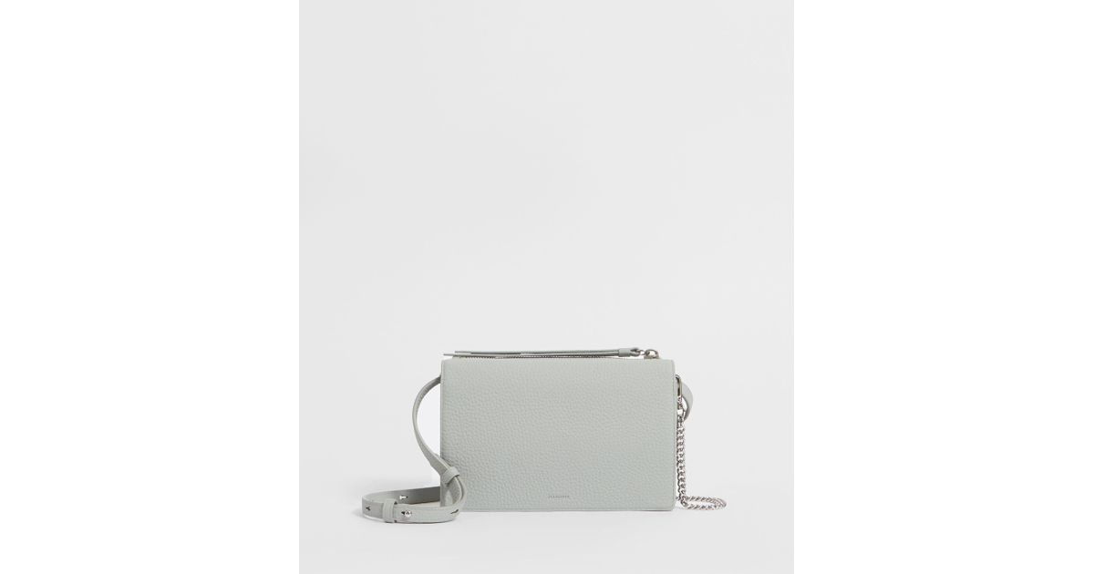 d7c229a03 AllSaints Fetch Leather Chain Wallet Crossbody Bag - Lyst