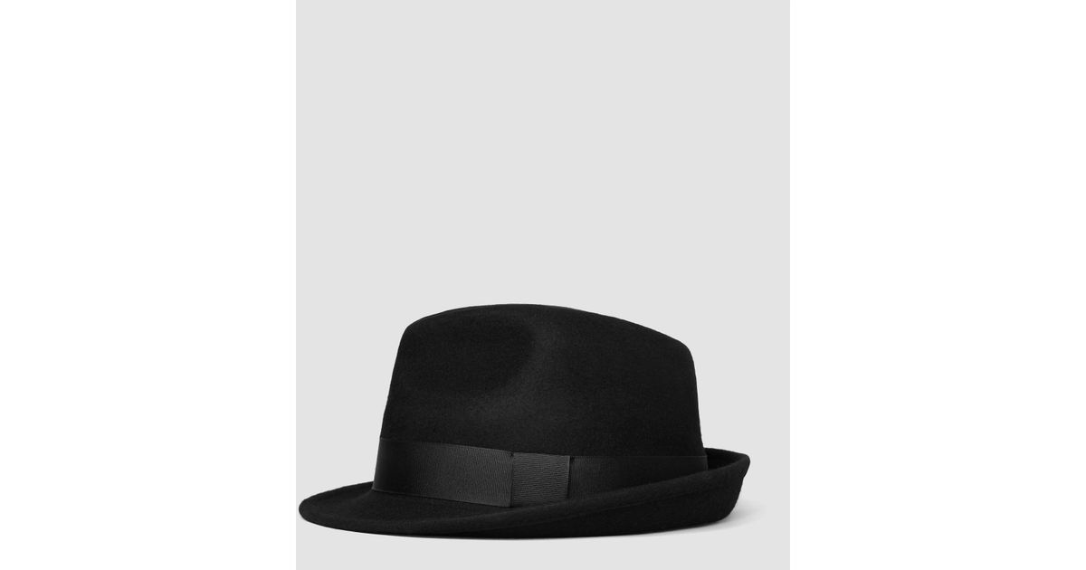 7a02591c1eb29 AllSaints Charge Trilby Hat in Black for Men - Lyst