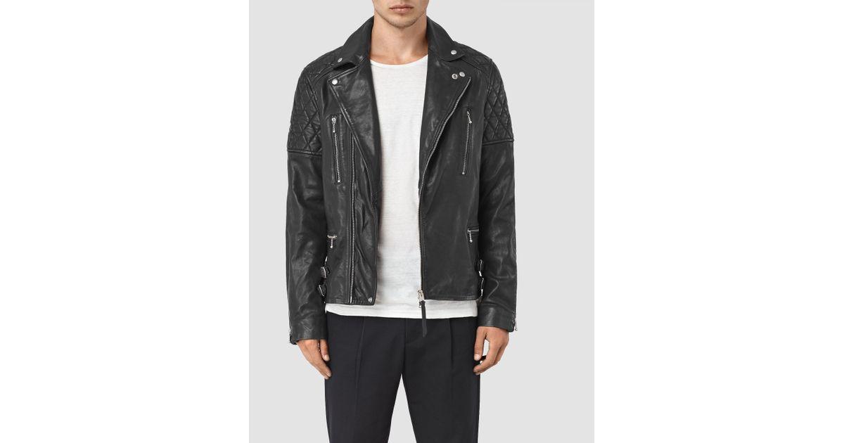 Side Zip Leather Jacket Mens India Allsaints Yuku Leather