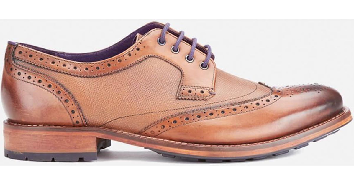 12f9dce49b5a29 Lyst - Ted Baker Men s Casius4 Leather Brogues in Brown for Men