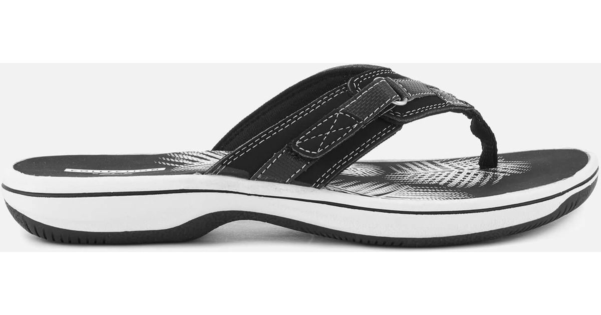 d80fe3f2dc55 Lyst - Clarks Brinkley Sea Toe Post Sandals in Black
