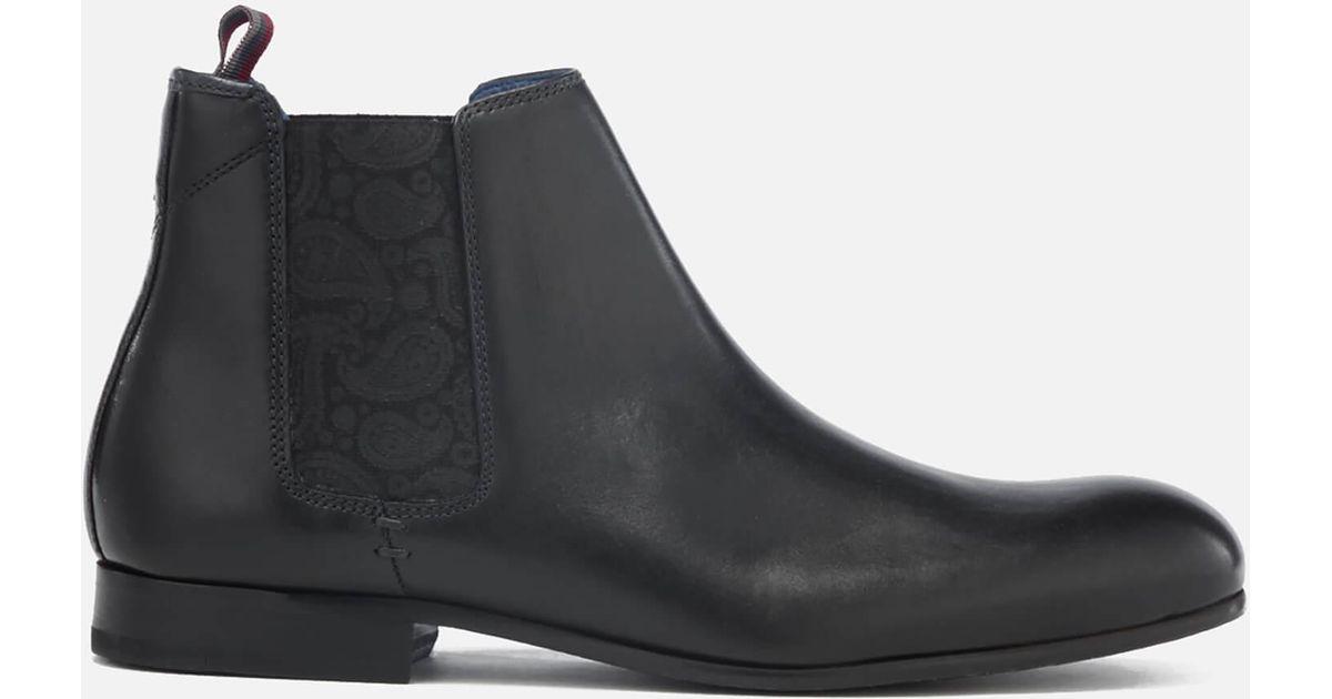 ed4f7540e Ted Baker Men s Kayto Leather Chelsea Boots in Black for Men - Lyst