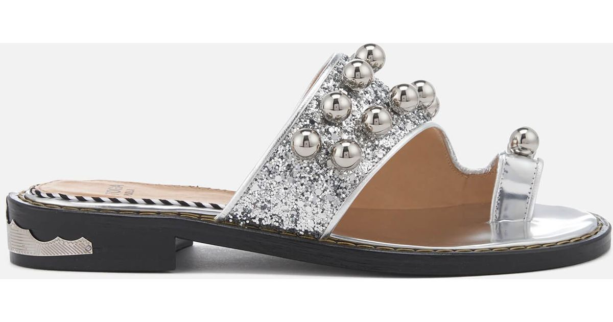 TOGA PULLA Women's Glitter Double Strap Sandals Wide Range Of Online Looking For For Sale Sale Best Store To Get Free Shipping Comfortable Clearance Countdown Package kDm2q