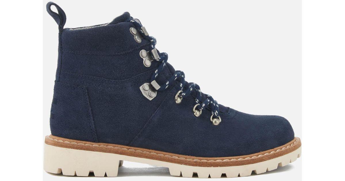 b701b1d5f6b Lyst - TOMS Women s Summit Waterproof Suede Hiker Boots in Blue