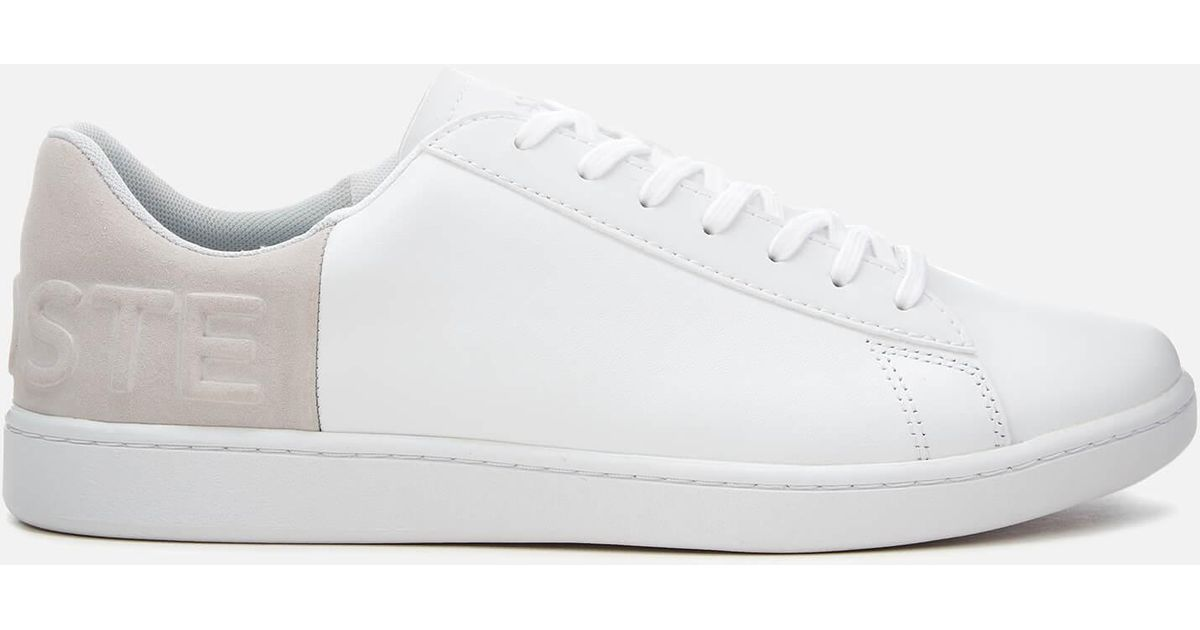 74a85ccaabec19 Lacoste Carnaby Evo 318 6 Leather suede Trainers in White for Men - Save  1.17647058823529% - Lyst