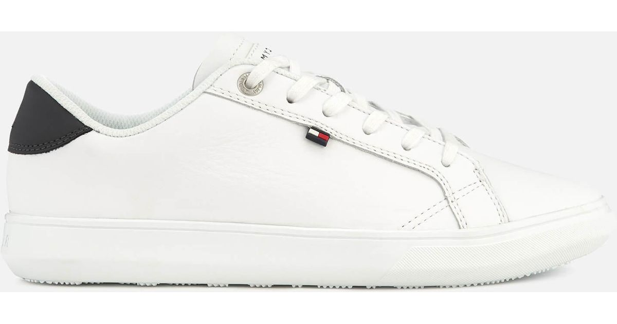 83471cc2df8a Lyst - Tommy Hilfiger Essential Leather Cupsole Trainers in White for Men