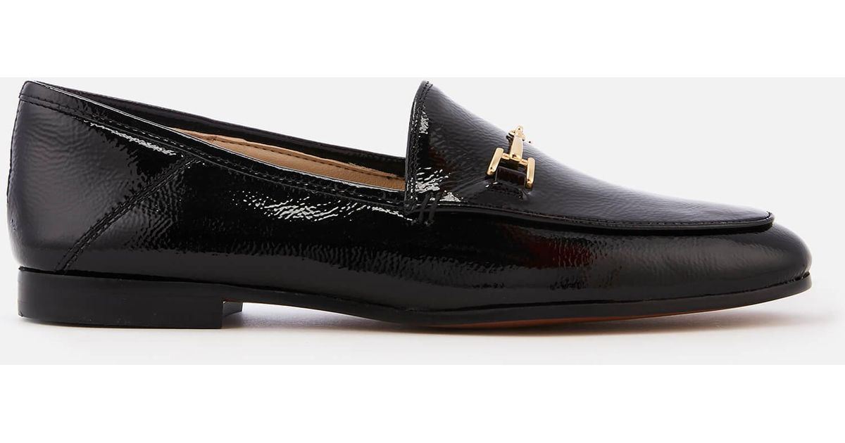 69214a8a1f15d Lyst - Sam Edelman Loraine Crinkle Patent Loafers in Black