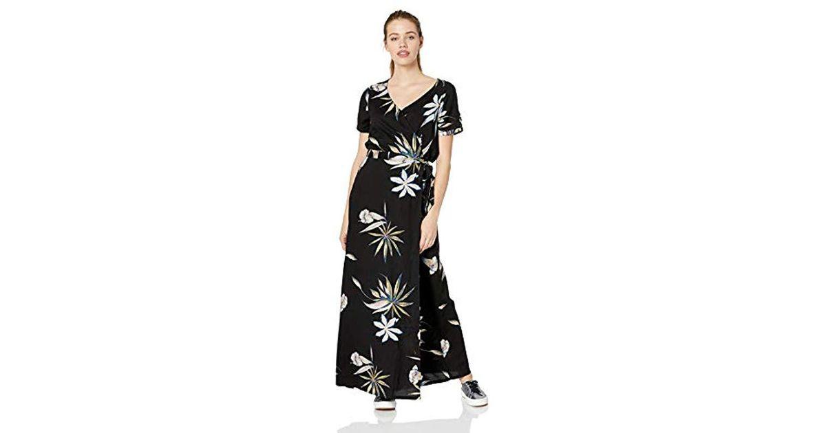 715eff1d55f7 Roxy Lotus Heart Long Dress in Black - Save 59% - Lyst