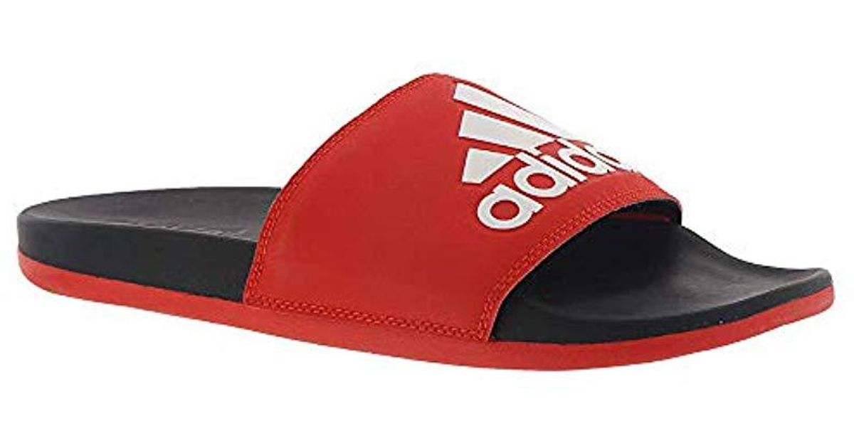 ad98fb1023d9 Lyst - adidas Adilette Comfort in Red for Men