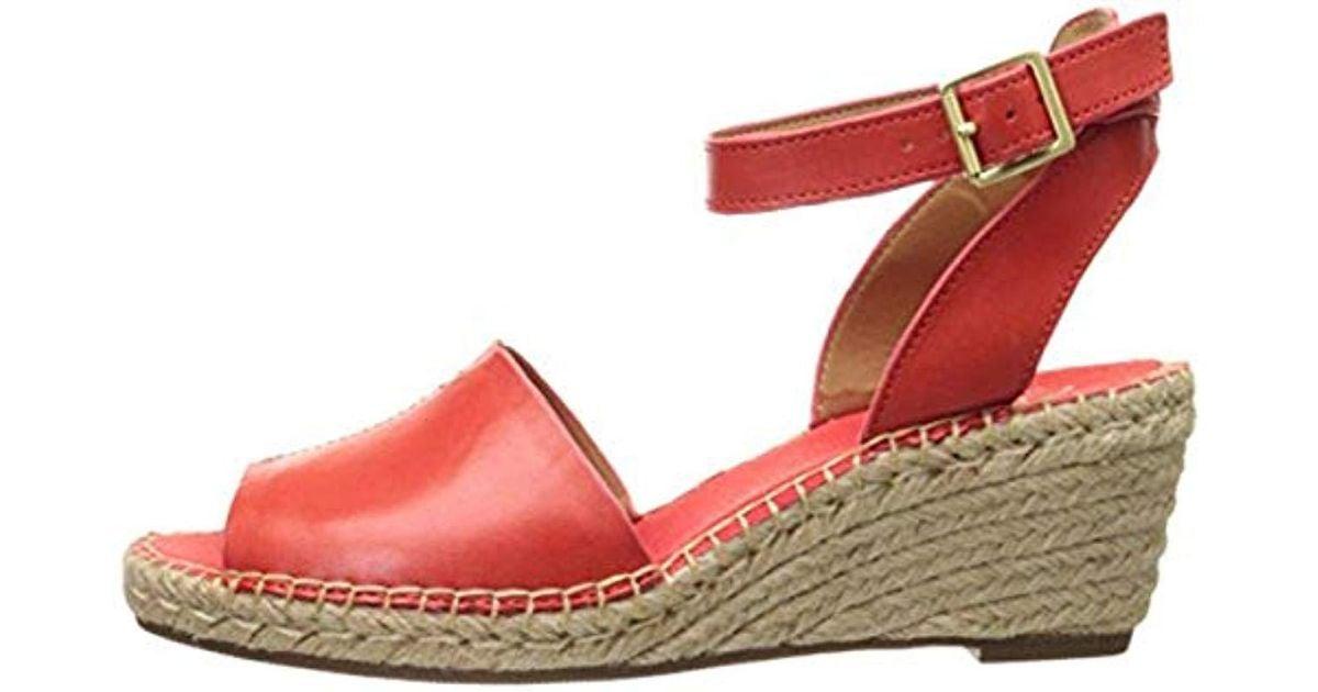 2f417126876 Lyst - Clarks Petrina Selma Wedge Sandal in Red