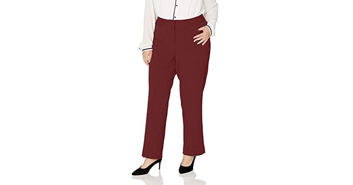 4a74401b83d Lyst - Rafaella Plus Size Curvy Fit Gabardine Slim Leg Pant