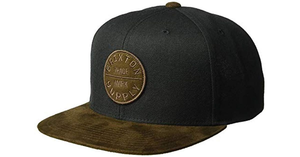 c32a64c4901 Lyst - Brixton Oath Iii Medium Profile Adjustable Snapback Hat in Black for  Men