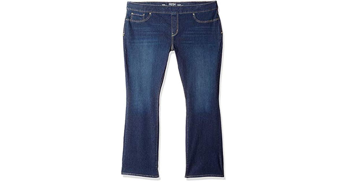 7a6e656fe7205 Lyst - Signature By Levi Strauss   Co. Gold Label Plus-size Totally Shaping  Pull On Bootcut Jeans