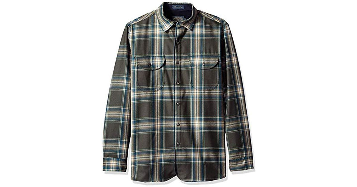 c6c19a1d Lyst - Pendleton Long Sleeve Fitted Buckley Shirt in Gray for Men