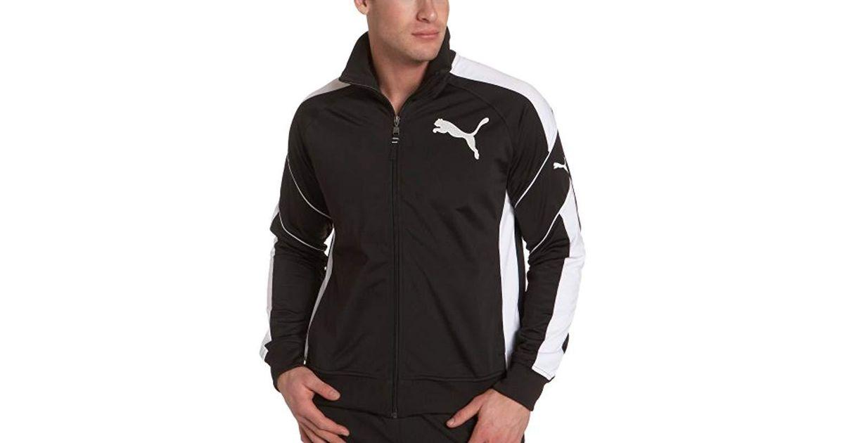 d719b441b428 Lyst - PUMA Tricot Track Jacket in Black for Men