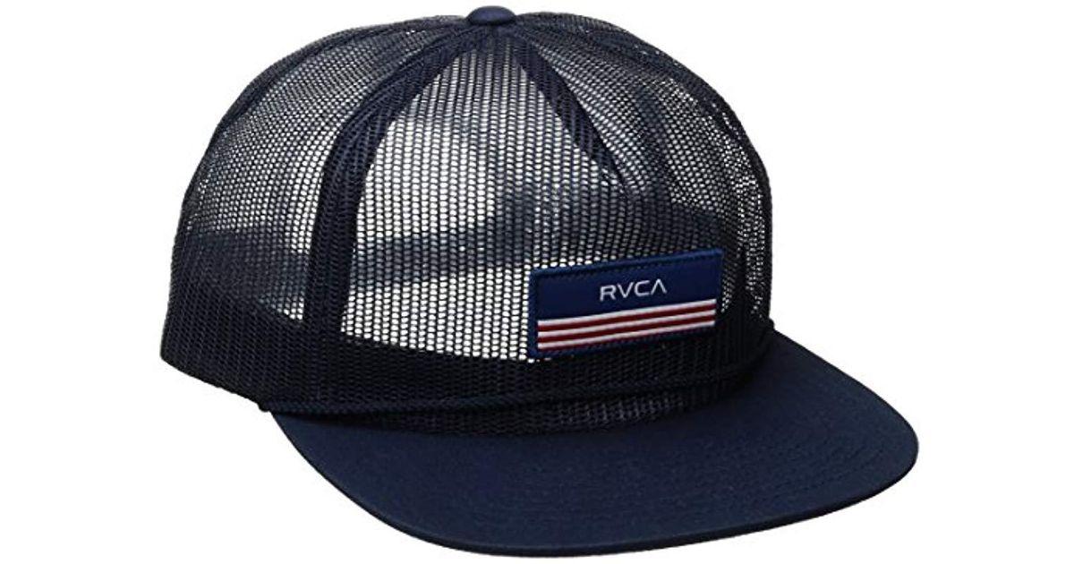 8abd1d5a5a2 Lyst - RVCA Merica Trucker Hat in Blue for Men