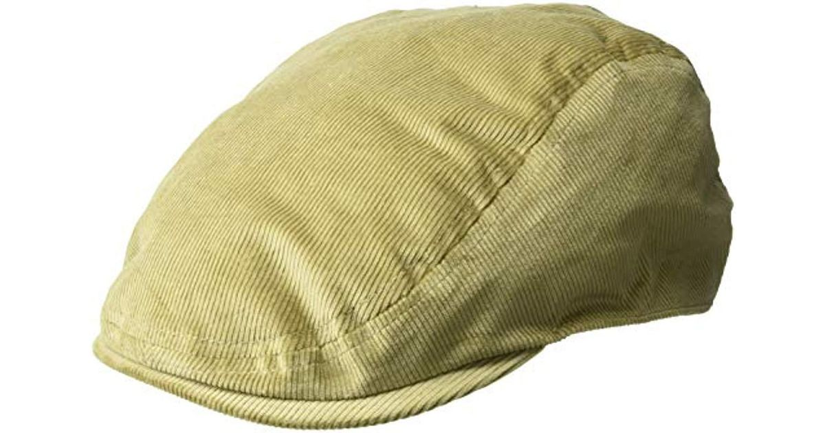 57ea61771e2314 Kangol Cord Flat Ivy Cap Hat in Natural for Men - Lyst