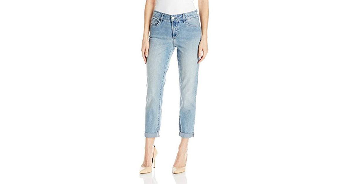 6a3e0e3719ae Lyst - NYDJ Petite Size Alina Skinny Convertible Ankle Jeans in Blue