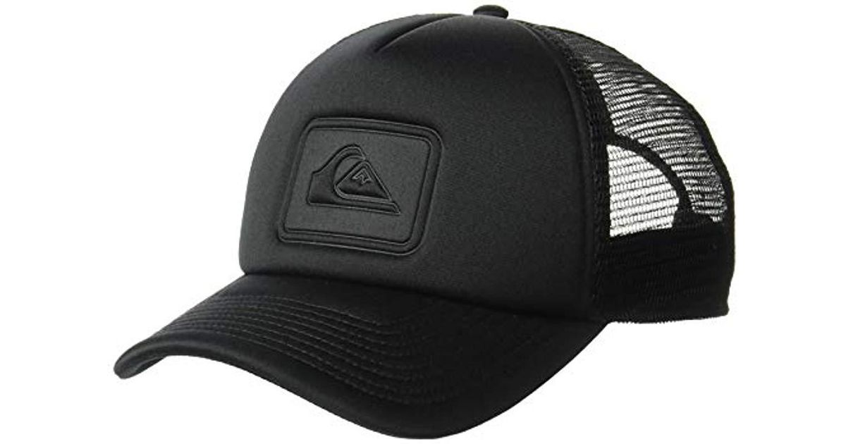 7f7ff97ce9d Lyst - Quiksilver Squashed Banana Trucker Hat in Black for Men