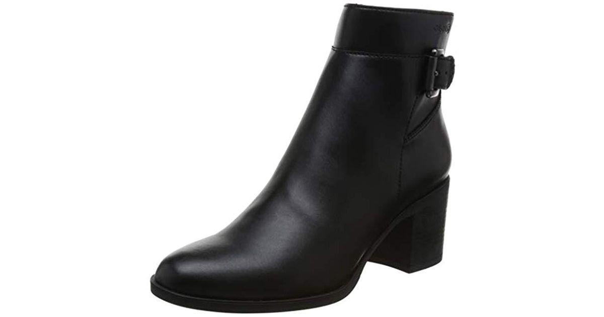 e588fdd84d3e3d Lyst - Geox Asheel 1 Zip Ankle Boot