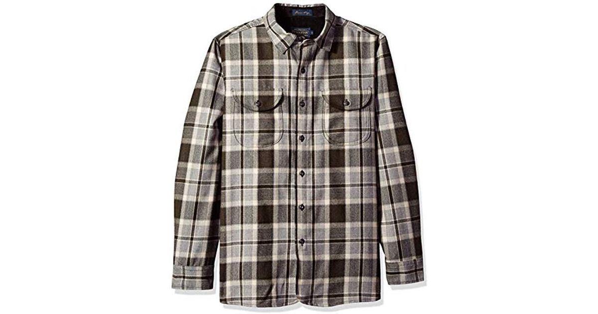 d5fe237f Lyst - Pendleton Long Sleeve Fitted Buckley Shirt in Brown for Men
