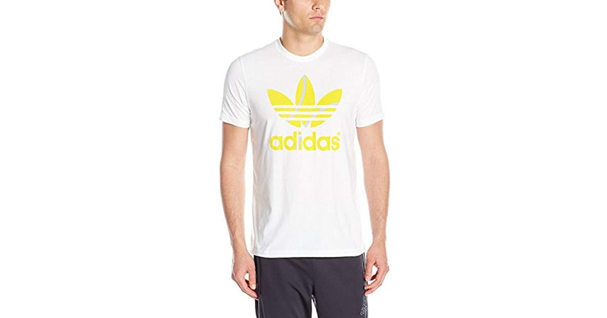 24c66e10102b7 Lyst - adidas Originals Trefoil Tee in White for Men